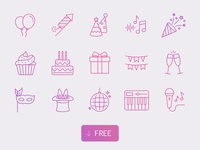 Free Vector Party Icons