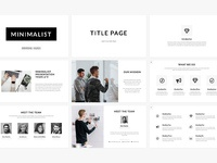 Minimalist presentation template preview cm 2