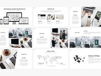 Minimalist presentation template preview cm 4
