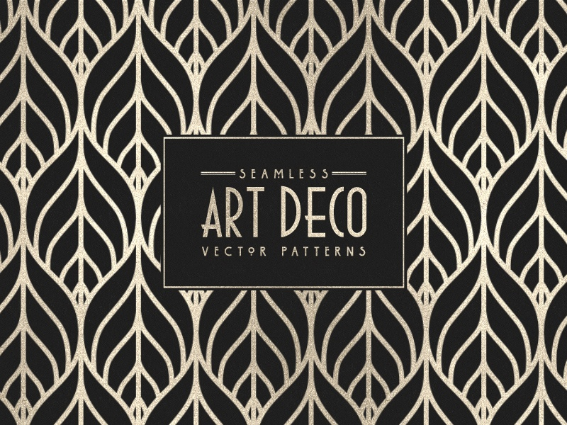 Seamless Art Deco Vector Patterns By Tony Thomas Dribbble Dribbble