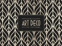 Seamless Art Deco Vector Patterns