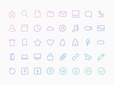 Single Line Vector Icons minimal line icon symbols glyphs continuous one line single line icons