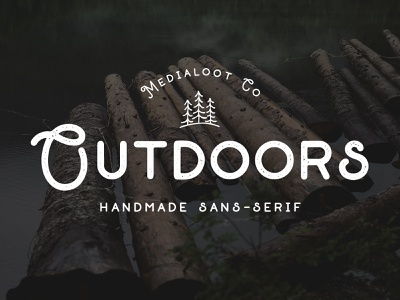 Outdoors Font typeface camping retro outdoors font