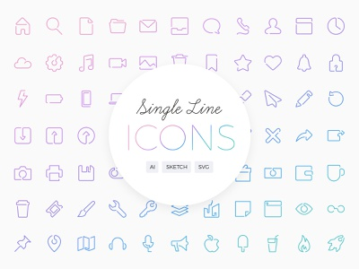 Single Line Icons icons by alfredo glyphs one line single line icon set icons