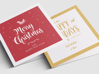 Festive Christmas Greeting Card Templates
