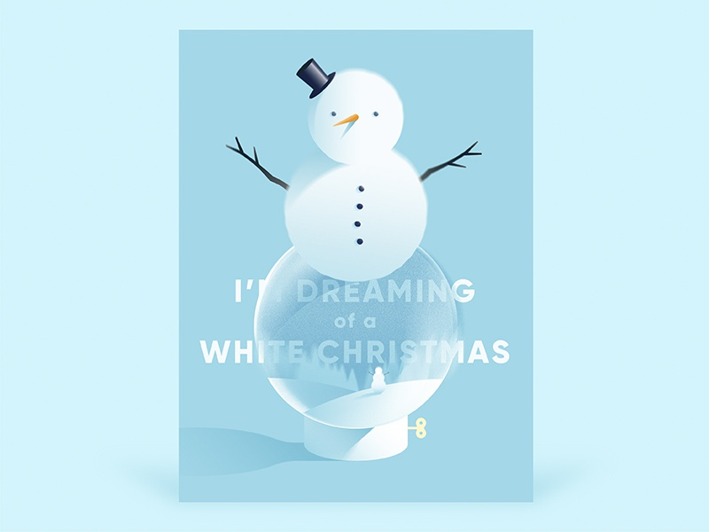Dreaming of a white christmas dribbble