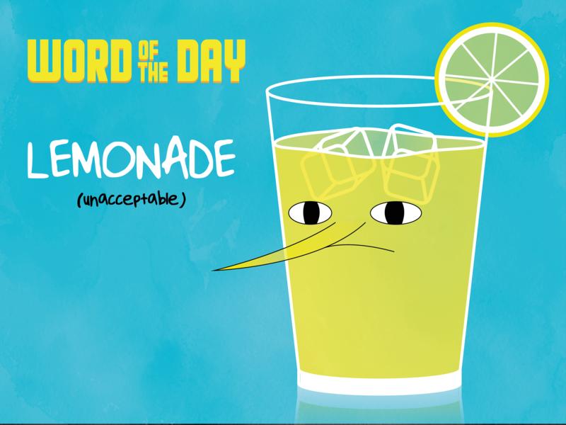 (unacceptable) LEMONADE design illustrator adventure time lemonade word of the day