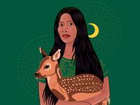Guardians Of Nature illustration / Actress Yalitza Aparicio