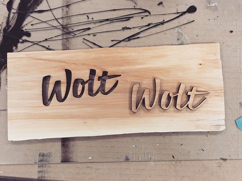 Laser Cut Wood Logo By Mika Matikainen Dribbble Dribbble