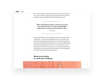 Wolt blog UI details