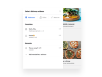 Delivery address selector UI