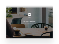 Wolt's 1st landing page in 2014