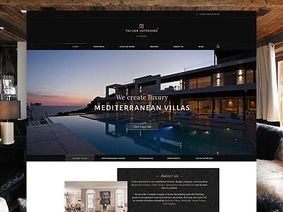 Interior design company website marble company interior furniture classy quality elegant luxury flat design webiste web
