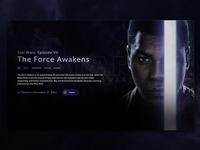 Star Wars: The Force Awakens - Landing page