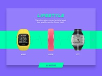 Fitness watches e-commerce landing page