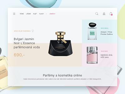 Perfumes e-commerce site cosmetics elegant parfume perfume shop website design web modern clean ecommerce