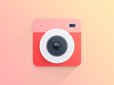 Plastic Bullet App Icon Redesign instagram photography photo modern clean flat icon logo redesign apple ios app