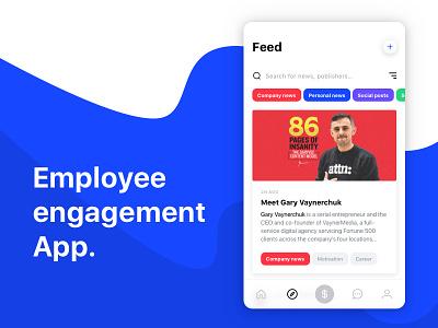 Employee engagement app concept. trophy chat communication network social employer employee mobile app flat color ui design ux design screen app concept app design clean ui  ux ux ui