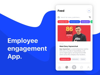 Employee engagement app concept. trophy chat communication network social employer employee mobile app flat color ui design ux design screen app concept app design clean ui  ux ux ui