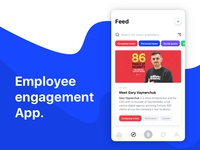 Employee engagement app concept.