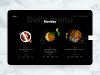 Daily menu web UI