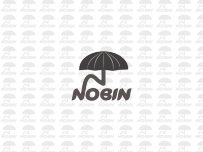 Combination logo,name under umbrella