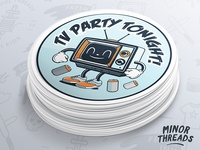 TV Party Stickers
