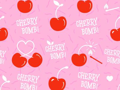 Cherry Bomb! Pattern Illustration