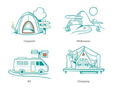 Campr – Camping Illustration Types