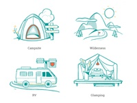 Campr – Camping Illustration Types