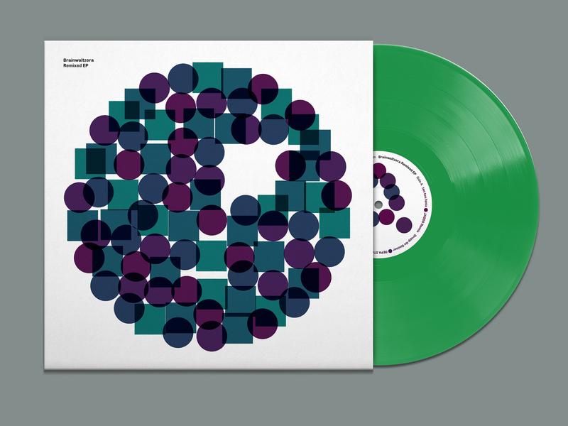 Brainwaltzera – Remixed EP charity vinyl package design music graphic design