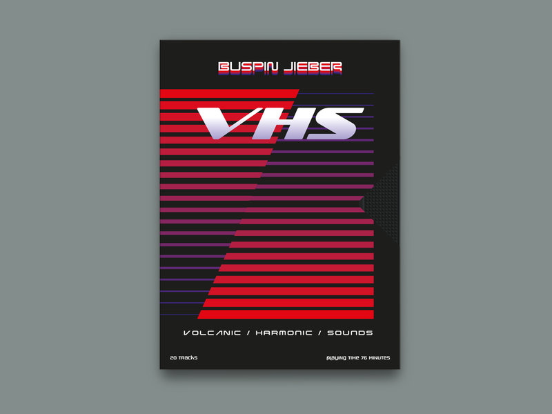 Buspin Jieber – V​.​H​.​S. Volcanic/Harmonic/Sounds compact disc cd design cd artwork 1980s charity package design design graphic  design music