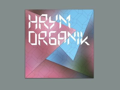 HRYM – Organik  – CD album cd packaging cd artwork cd design cd cover compact disc branding vector package design design graphic  design music