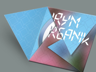 HRYM – Organik – CD album cd packaging cd artwork cd cover cd design compact disc vector package design design graphic  design music