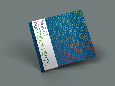 Dyadik >Murya — Northern Lights< album artwork (shot 1) repeat pattern geometric logo typogaphy compact disc abstract branding vector package design design graphic  design music