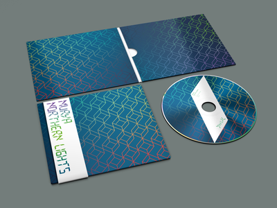 Dyadik >Murya — Northern Lights< album artwork (shot 2) repeat pattern geometric compact disc logo typography branding vector package design design graphic  design music