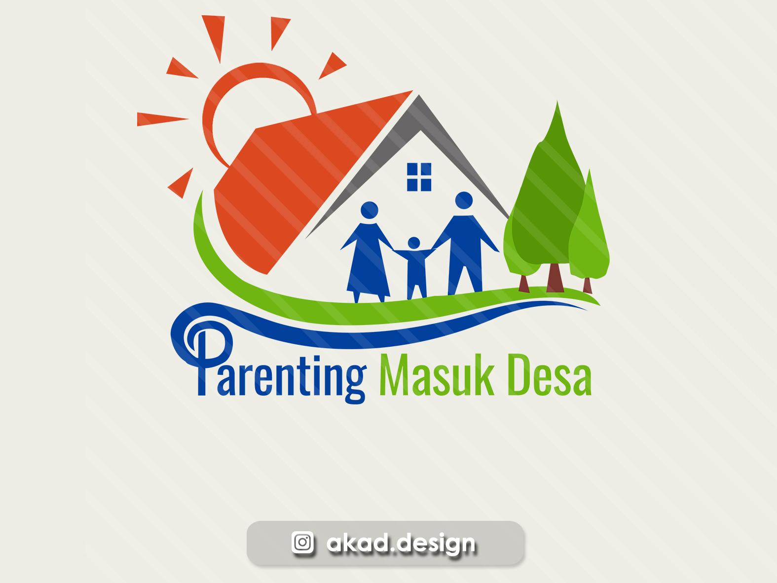 Logo Village Parenting human logo human logo 2d village logo logo design family logo family parenting logo logo parenting parenting logo village village logo