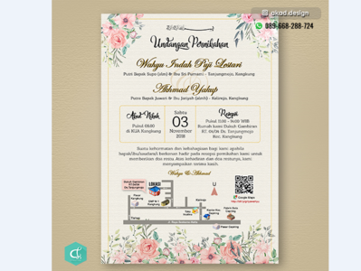 Wedding Invitation Card By Kharisma Arby On Dribbble