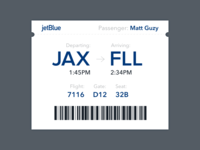 Daily UI #024— Boarding Pass