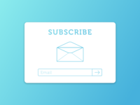 Daily UI #026— Subscribe