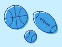 Sports Balls Illustration 2