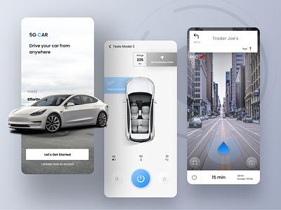 REMOTE 5G CAR APP tesla remote control remote car carapp 5gcarapp 5gcar 5g ui ux design user interface uidesigns ui design ux ux  ui uid uidesigner uiux uidaily uidesign