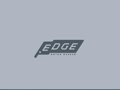 Edge Motor Museum branding cars museum edge design memphis logo