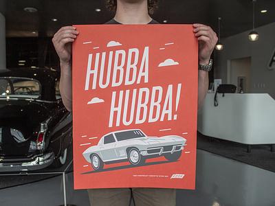 Edge Motor Museum Poster Series corvette thunderbird shelby screenprint cars museum design poster memphis