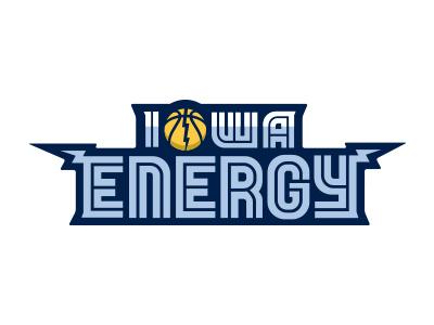 Iowa Energy Logo Type (Unused) iowa energy nba basketball dleague grizzlies memphis logo