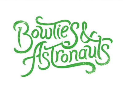 Bowties & Astronauts type logo film documentary bowties astronauts