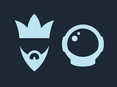 K&A Icons illustration logo film documentary kings astronauts icons
