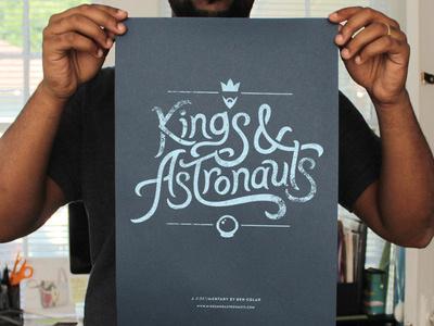 K&A Poster kings astronauts poster silkscreen film documentary