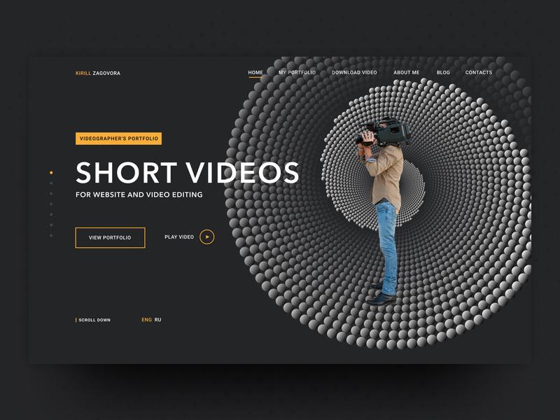 Videographer's Portfolio main screen videographer portfolio website