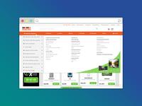 Header for e-commerce